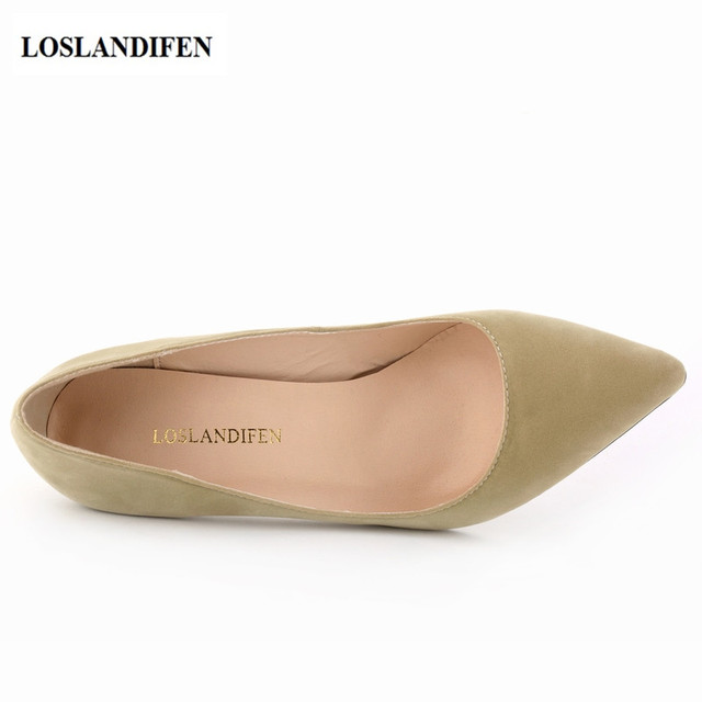 Classic Pointed Toe Shoes With Suede Detail