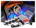 4x 3LED Carga Do Carro DC12V 6 W Brilho Interior Decorativa 4em1 Atmosfera Lâmpada Luz Azul Auto suprimentos automotivos luz pé luz