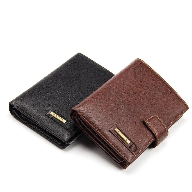 New Vintage men's leather wallet money clip purse brand Passport wallet large capacity wallets for men coin card purse