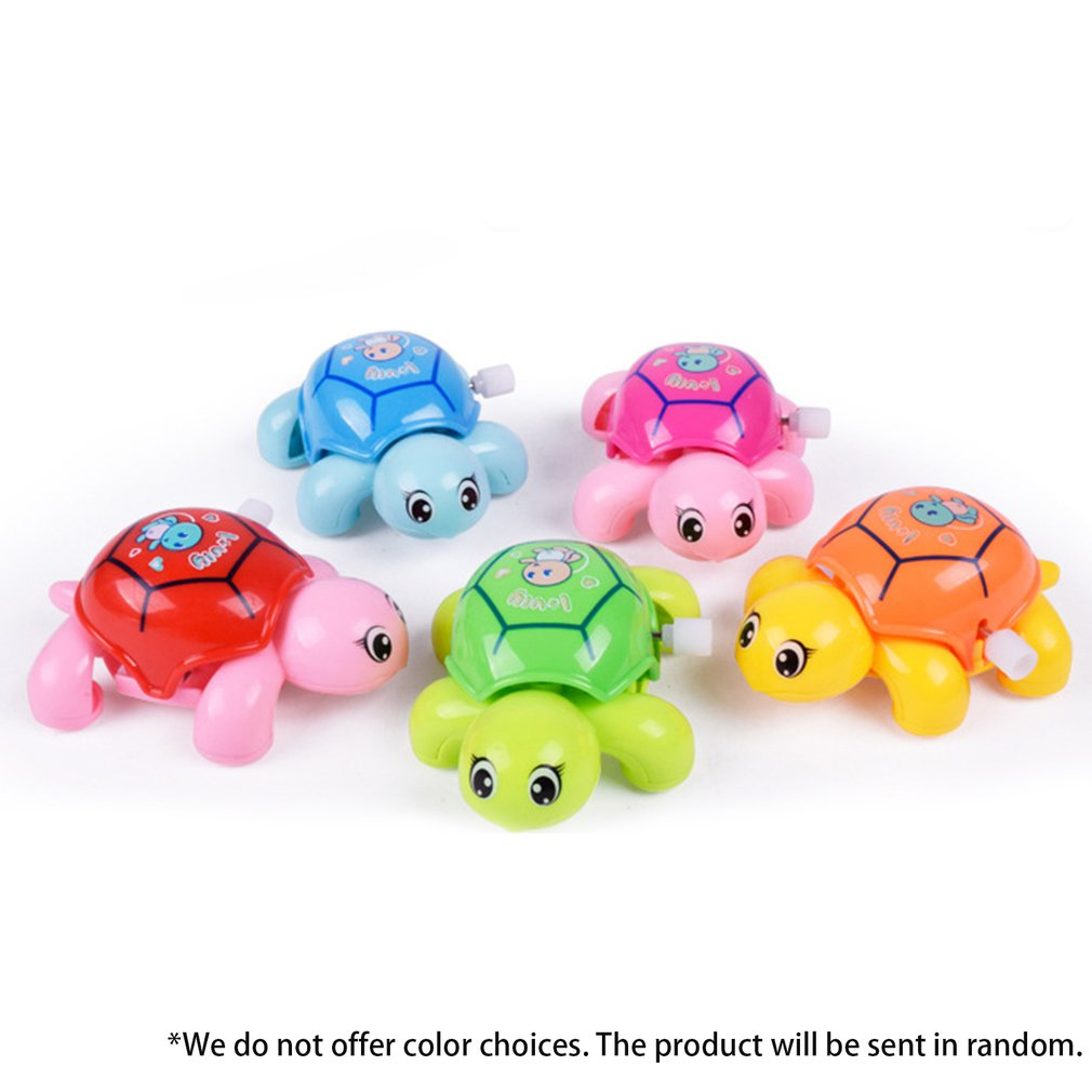 Creative children's clockwork toy Turtle on the Chain Mainspring Toys Parent-children Interaction Educational Pull Line Rope toy