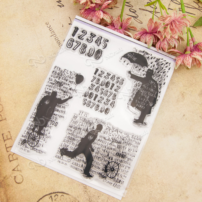 Clear Stamp Scrapbook DIY photo cards rubber stamp seal stamp happy transparent silicone transparent stamp 13x16.5cm T0017 wyf1017 scrapbook diy photo album cards transparent silicone rubber clear stamp 11x16cm camera