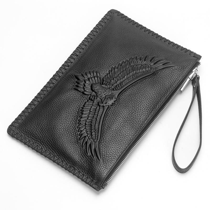 Luxury Genuine Leather Men Wallets Handbag Business Card Holder Coin Purse Phone bag Male Men's Long Zipper Clutch Pouch 2018 new arrival leather wallets men brand business long purses money bag credit card holder 2017 new zipper phone clutch wallet male