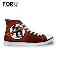 FORUDESIGNS/модные мужские высокие вулканизированные туфли в стиле аниме Dragon Ball Z; парусиновая обувь с принтом для мальчиков; осенние кроссовки