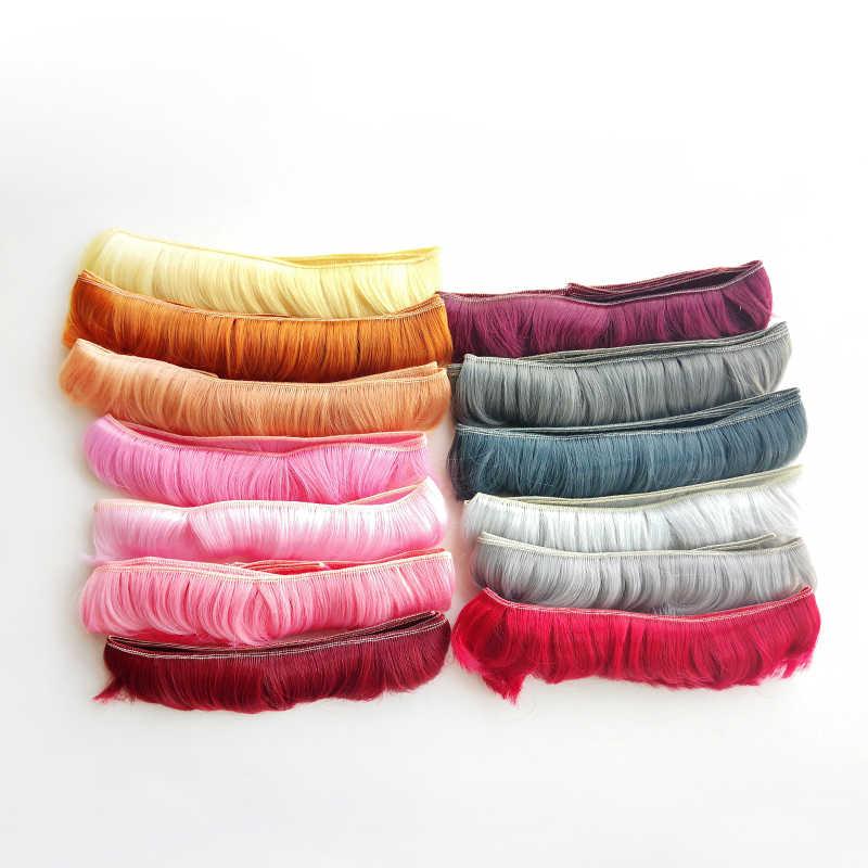 Msiredoll peluca bjd accesorios 1 pieza 5*100CM pelo de muñeca para 1/3 de 1/4 BJD muñeca Peluca de bricolaje fringe pelo de muñeca envío gratis