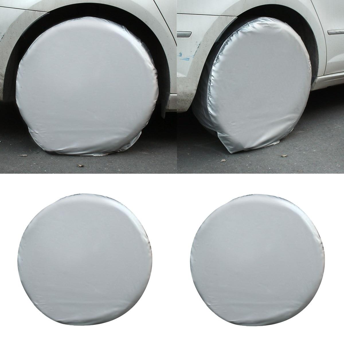 4 unids/set 27 ''29'' Car ruedas de repuesto neumático cubierta del coche impermeable cubierta del neumático para RV camión remolque Motorhome
