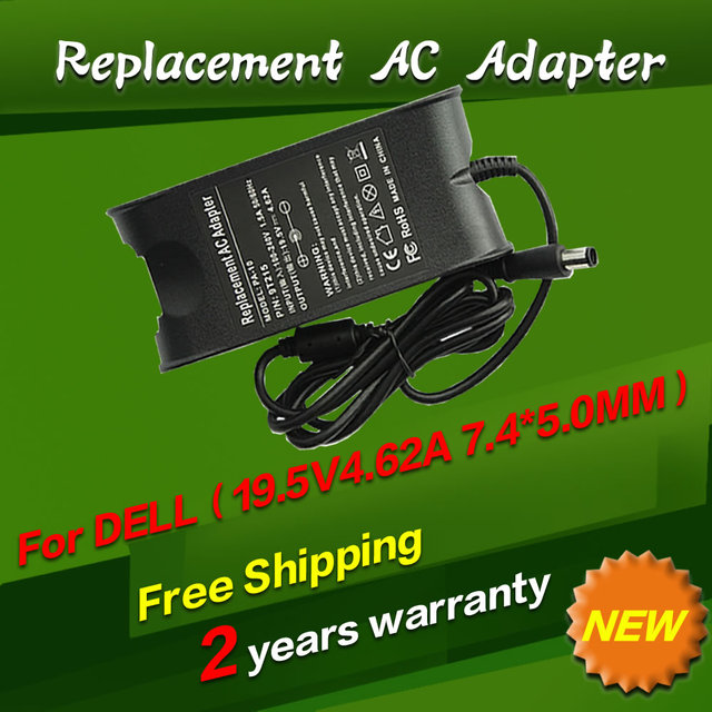 Replacement 19.5V 4.62A 7.4x5.0mm AC Laptop Adapter Power Supply For dell AD-90195D PA-1900-01D3 DF266 M20 M60 M65 M70