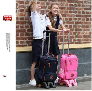 Image 2 - Capretti Wheeled Backpack Bambini Bagaglio di Viaggio Zaino on wheels trolley zaino per le Ragazze della Scuola Sacchetto di Rotolamento con ruote