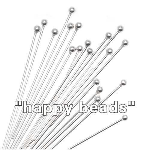 500PCS Wholesale Mixed Lots Silver Plated Ball Head Pins 0.5x25mm Findings
