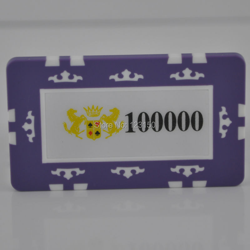 PK-2002ROYALE CASINO Rectangle ABS poker chip with Ultraviolet Proof treatment, Free Shipping
