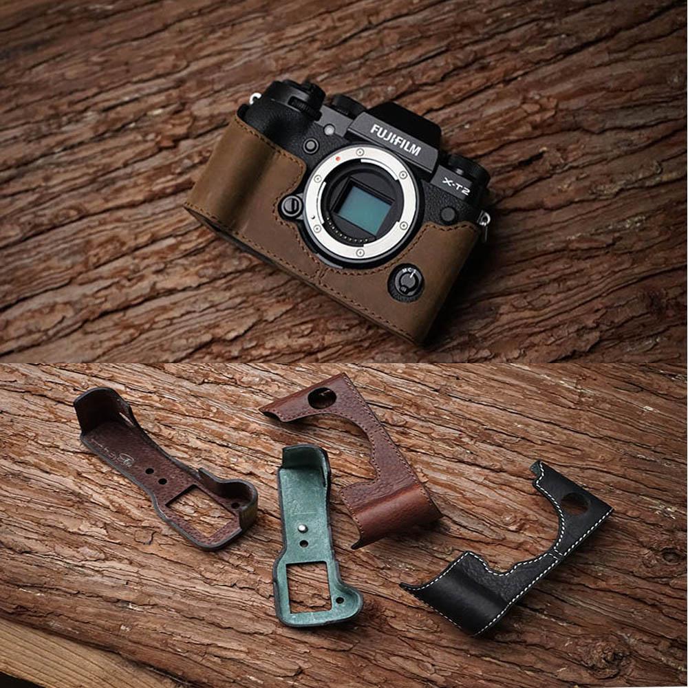Mr Stone Handmade Genuine Leather Camera case For Fuji Fujifilm XT2 XT 2 Camera Half Body