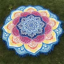 Tassel Towel Lotus Printed Beach Mat