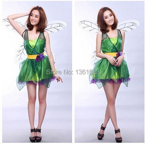 8a67dddb1193b غابة خضراء الجان هالوين زي جميل faery اللباس فستان حفلة للأميرات Hana no كو  Lunlun كوس