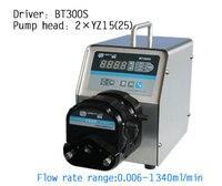 BT300S 2 X YZ25 большой поток переменной скорости Перистальтический дозирующий насос жидкости воды сок насос для оливкового масла ножная педаль