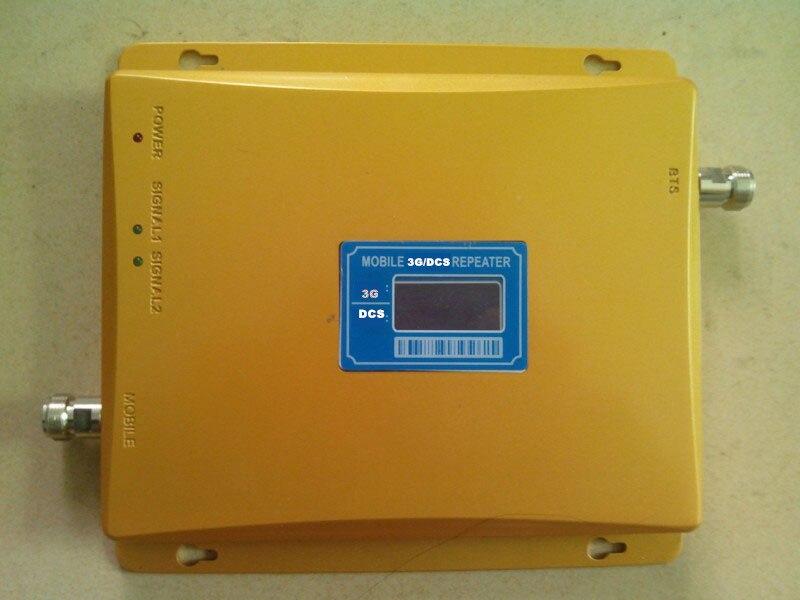 Amplificateur de Signal Mobile DCS 1800 mhz 3G WCDMA UMTS 2100 mhz répéteur de téléphone portable 65dB amplificateur Celluar à double bande d'affichage à cristaux liquides 2G 3G 4G - 2