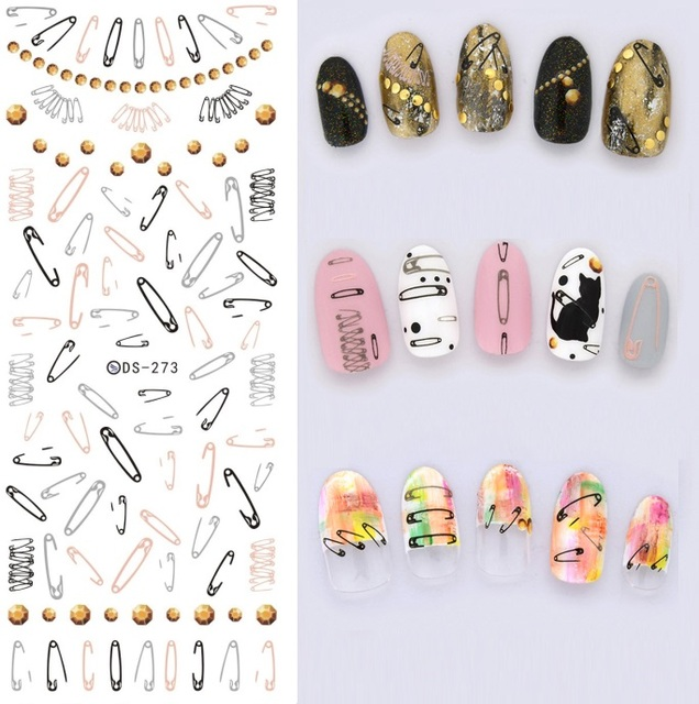 New diy fashion water transfer nails art sticker paper clips new diy fashion water transfer nails art sticker paper clips harajuku nail wraps sticker fingernails decals prinsesfo Gallery