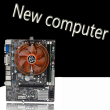 100% New desktop motherboard A55 FM1+CPU A4-330 +memory 8G 1600MHZ +CPU fan Set LGA 771 DDR3 boards mainboard free shipping