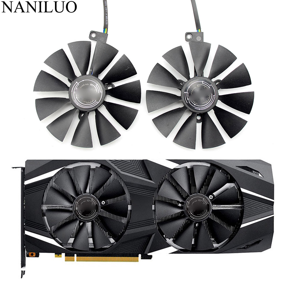 87mm T129215SH FDC10U12S9-C 4Pin RTX 2060 2070 2080 GPU Card Cooler Fans For ASUS GeForce RTX2080 RTX2060  GAMING Card Fan