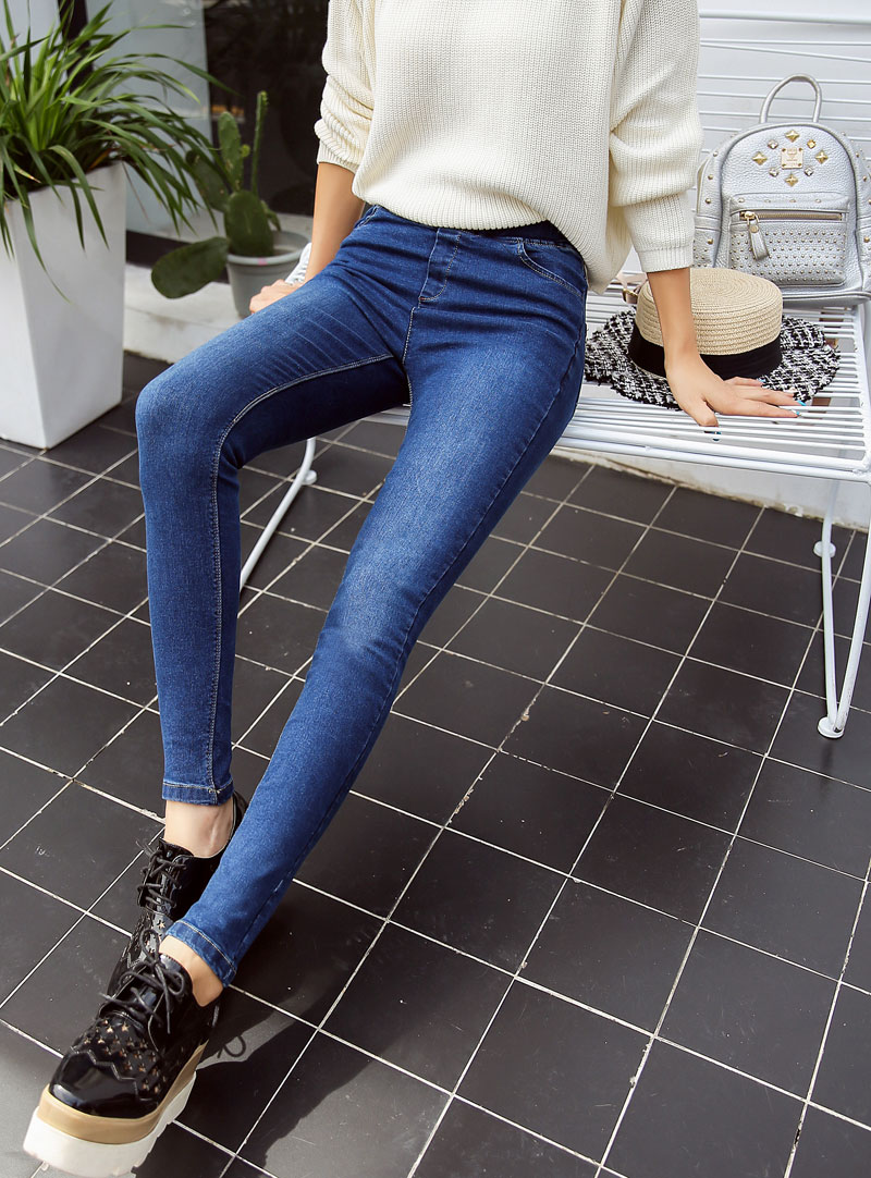 BIVIGAOS Basic Skinny Womens Jeans Ankle Pencil Pants Slim Elastic Denim Pants Jean Leggings Female Cotton Jeggings Jeans Women 63