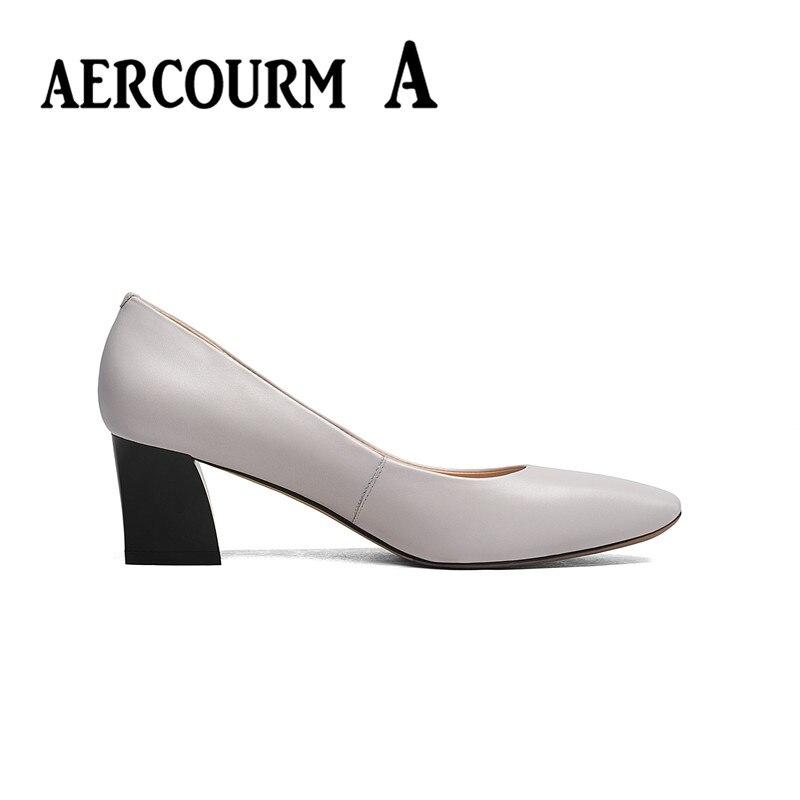 Aercourm un 2017 zapatos de piel de vaca de las mujeres del otoño - Zapatos de mujer - foto 5