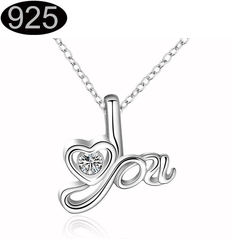 mum mom pendant charm silver plated necklace zircon