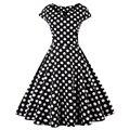 Zaful plus size s-4xl mulheres retro dress 50 s 60 s rockabilly do vintage balanço feminino vestidos v neck polka dot mulheres party dress cb