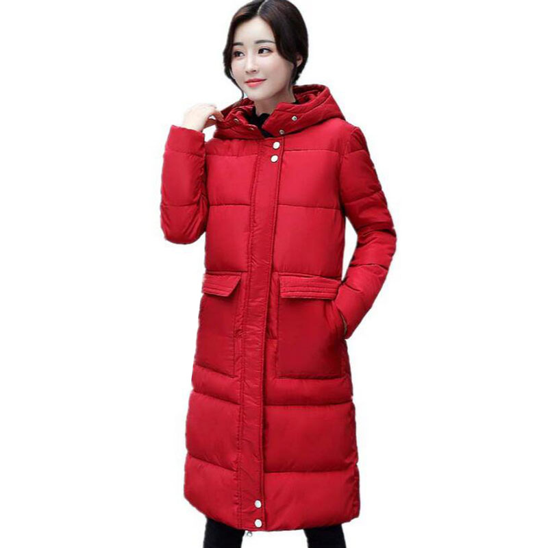 high quality Women Parka Coat 2017 Cotton Padded Winter Jacket Women Thick Warm Hooded Female Coat Winter Jacket Women's 5L43 swenearo 2017 new women thick warm coat hooded high quality cotton padded winter jacket women ladies coats winter collection