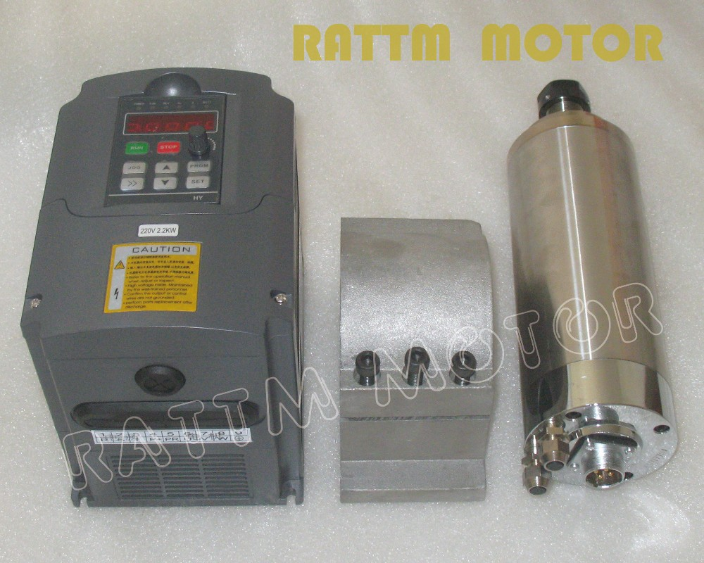 1.5KW Water-cooled spindle motor 220V/ ER11/ 24000...