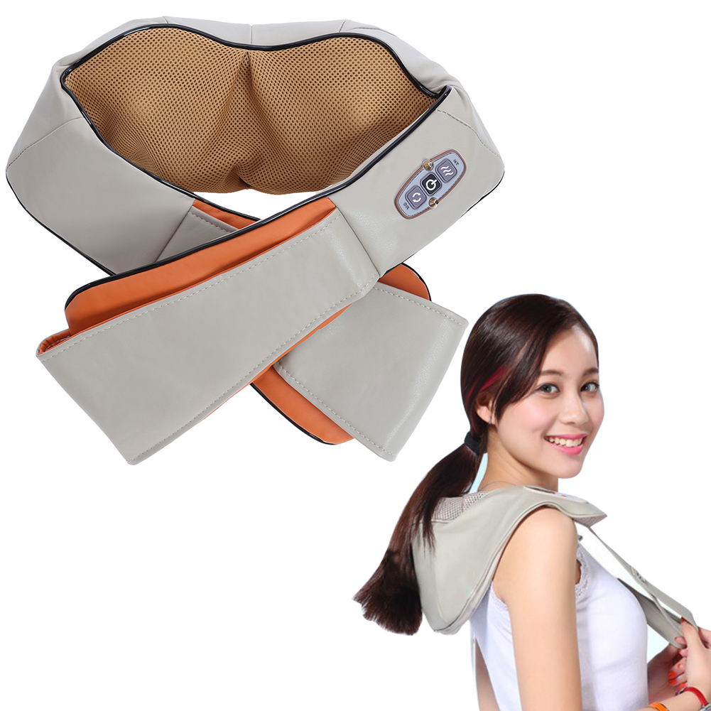 Shiatsu Cervical Back and Neck Massager Electric Kneading Shoulder Body Massage Heat Device Manual Home Car Massage Machine electric beauty body slimming and lipoid fat massaging massager is powerful vibratory body and slimming machine