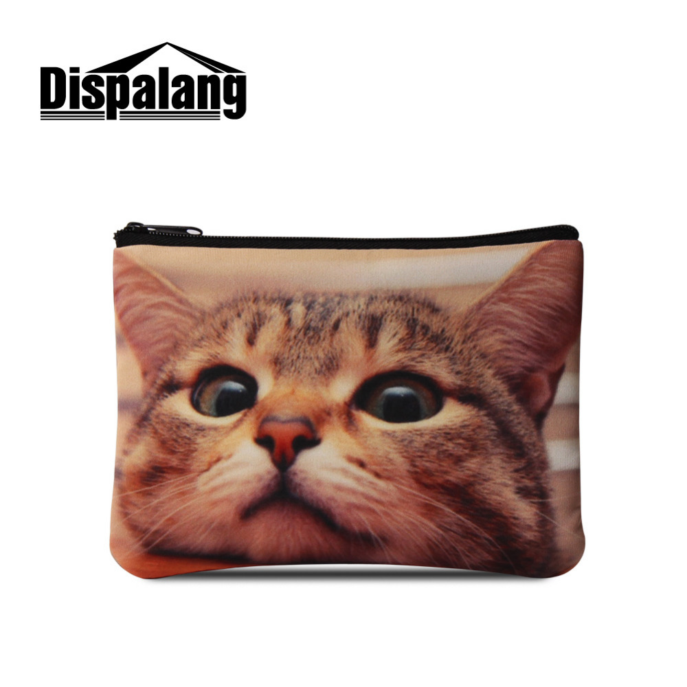 dispalang small animal coin purse women cute pet print coin pouch zipper ladies mini euro coin wallet key card phone storage bag in coin purses from luggage - Small Animal Pictures To Print