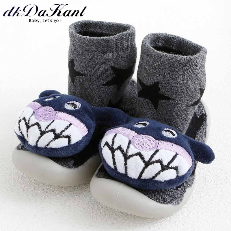 dkDaKanl Baby cute 3D cartoon indoor infant Shoes Winter Warm Thickened Socks For Baby Walking Floor Slip-proof Toddler Shoes