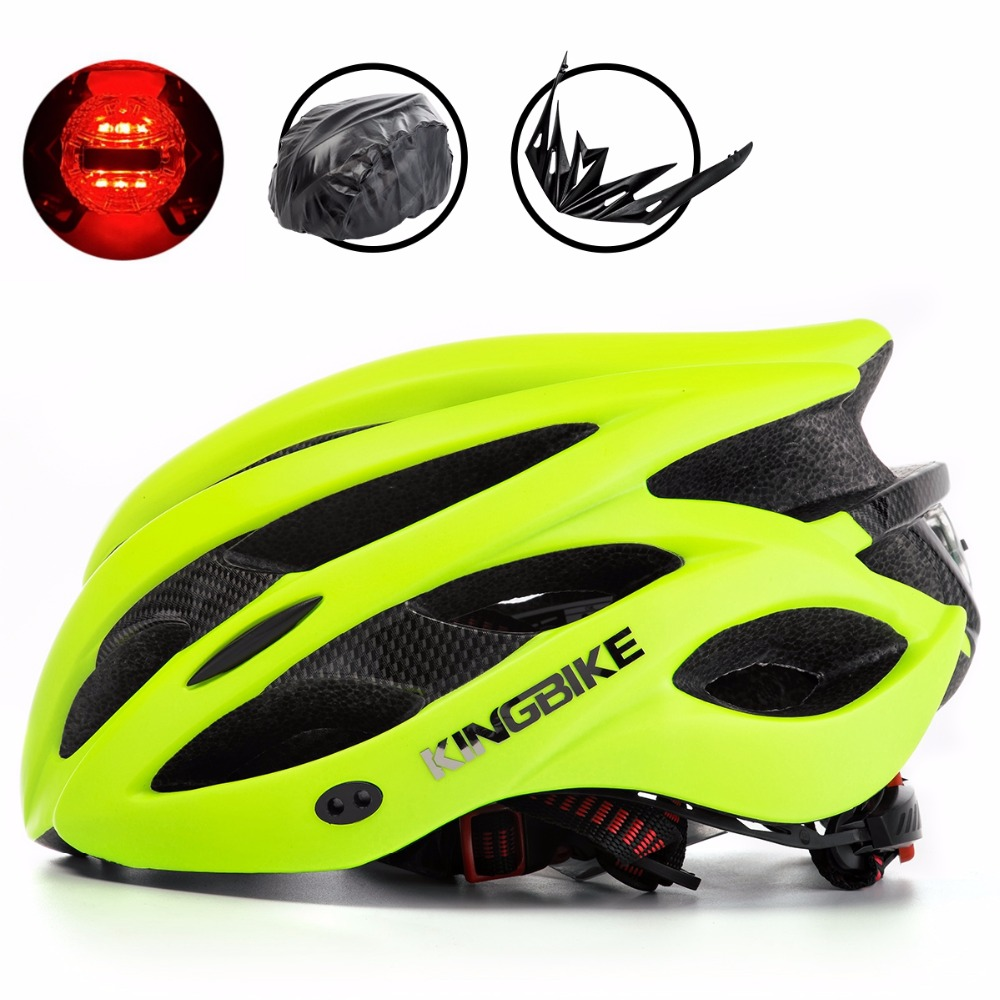 KINGBIKE Bicycle Helmet Light Integrally-molded MBT Road Sun Visor Capacete Ciclismo Men Women Ultralight mountain bike helmets