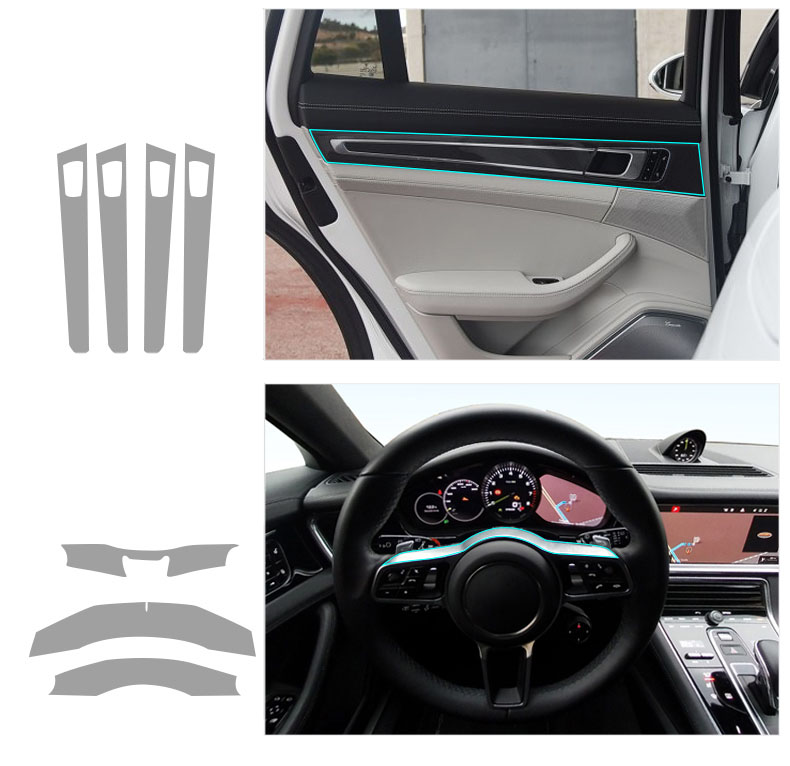 Lsrtw2017 transparten TPU interior do carro anti