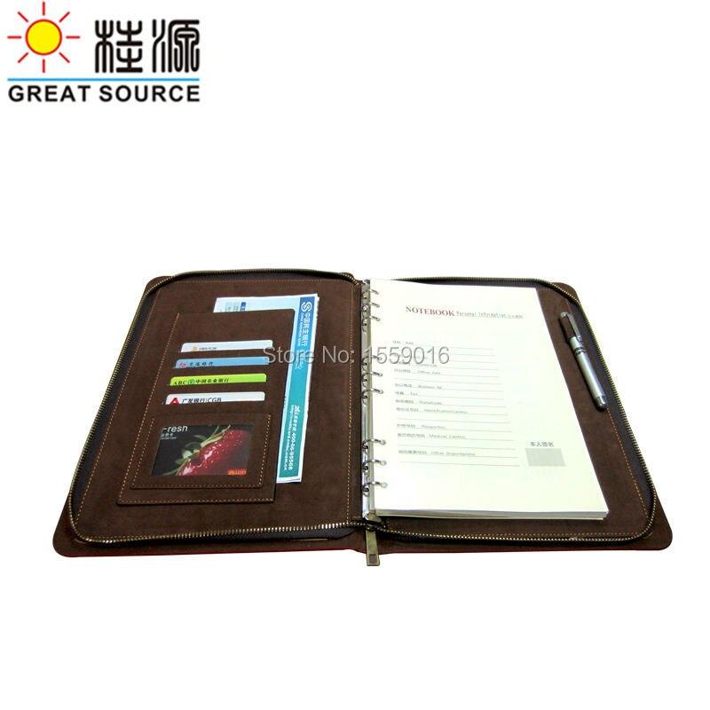 Кожаный блокнот на молнии папка прозрачная ручка сумка красочная наклейка и линейка подарочный набор папка для Портфолио для B5 планировщик мероприятий