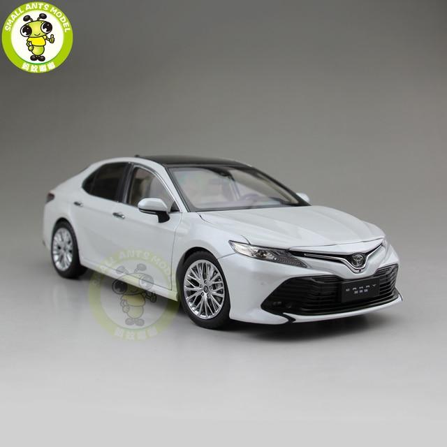 1/18 nuevo Camry 2018 8th generation Diecast juguetes de modelo de coche para niños colección de regalos para cumpleaños blanco