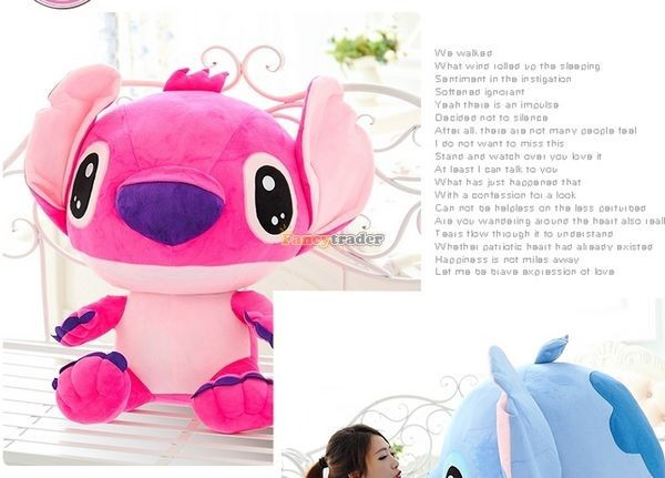 Fancytrader 47\'\' 120cm Biggest Huge Giant Stuffed Soft Plush Stitch, 2 Colors, Free Shipping FT50407 (10)