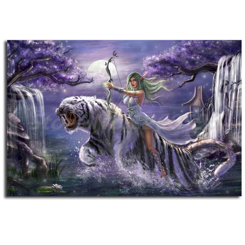 Tyrande Whisperwind World Of Warcrafts HD Wallpaper Canvas Posters Prints Wall Art Painting Decorative Picture Home Decoration In Calligraphy