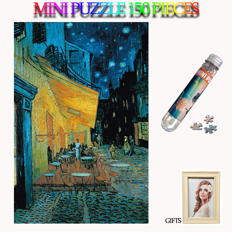 MOMEMO Resting Place Jigsaw Puzzles Paper Mini 150 Pieces Adults Tube Puzzle Oil Painting Puzzle Kids Teens Adults Puzzle Toys