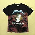 Tops Tees Cotton T Shirts Rappers Vintage METALLICA Pattern Brand Hip Hop Harajuku Summer Masculinas Camisetas Hombre Fitness
