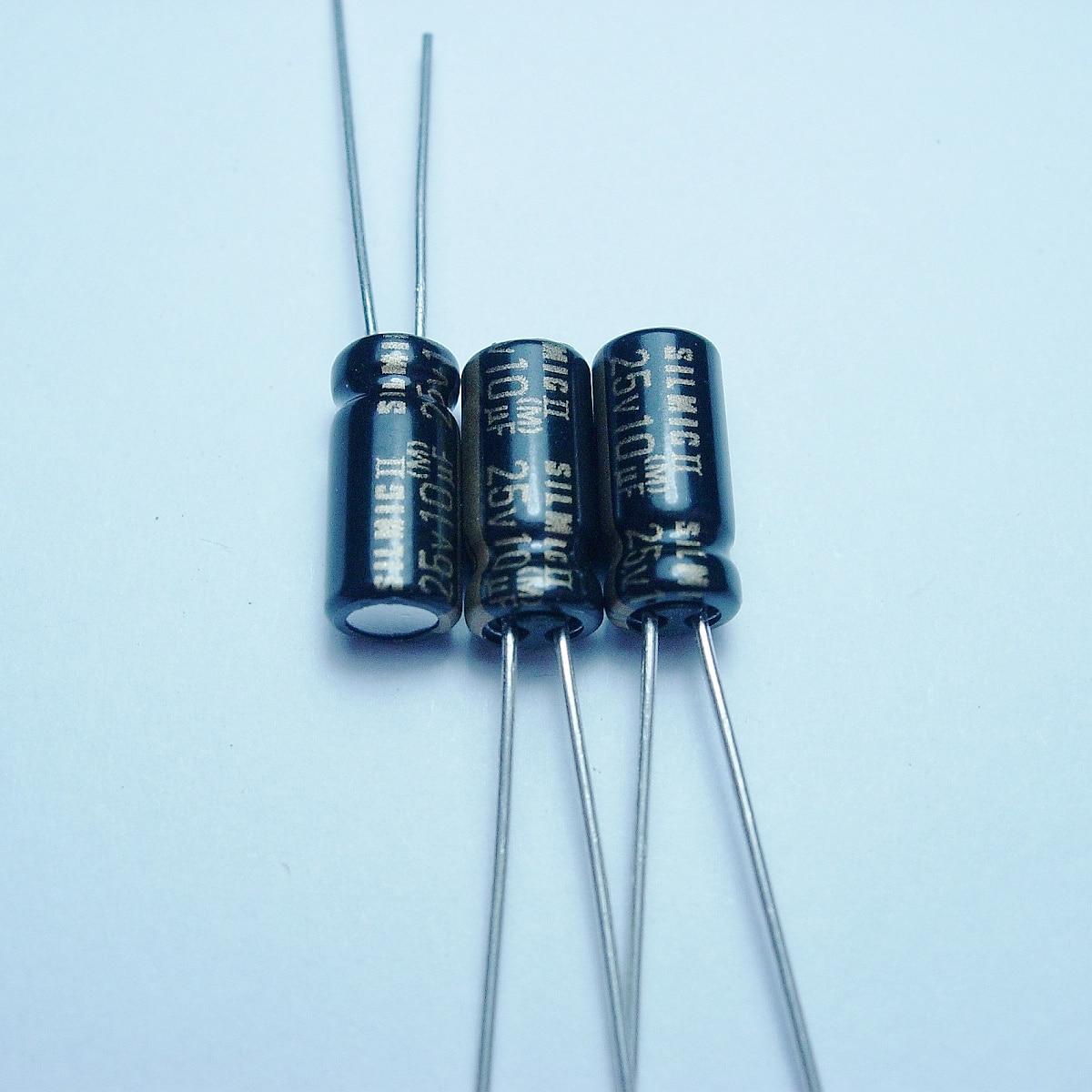 Cobre para Capacitância pé de Áudio Elna Silmcii 25v10uf 5*11 Super Capacitor Capacitores Eletrolíticos Frete Grátis 20 Pçs – 50