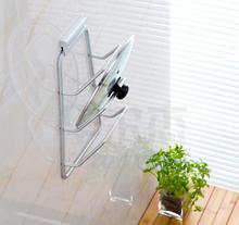 Montado En la pared De Aluminio Organizador De La Cocina Estante para Platos Plataforma De Almacenamiento y Accesorios estantes Organizador sostenedor de la cubierta de tapa de la Olla