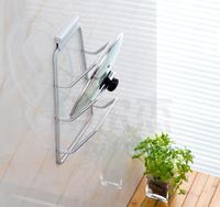Wandmontage Aluminium Keuken Organizer Opslag Plank Rek voor Schotel en Pot deksel cover houder planken Accessoires Organizador
