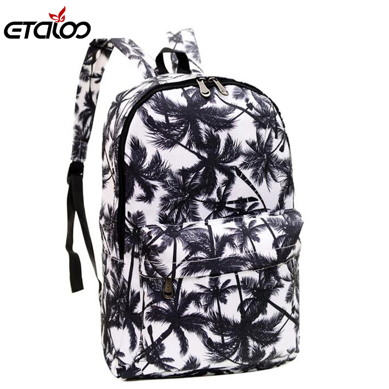 Women Printing Backpack School bag for Women and Men Rucksack Fashion Canvas Backpack Retro Casual Travel Bags casual style print and canvas design satchel for women