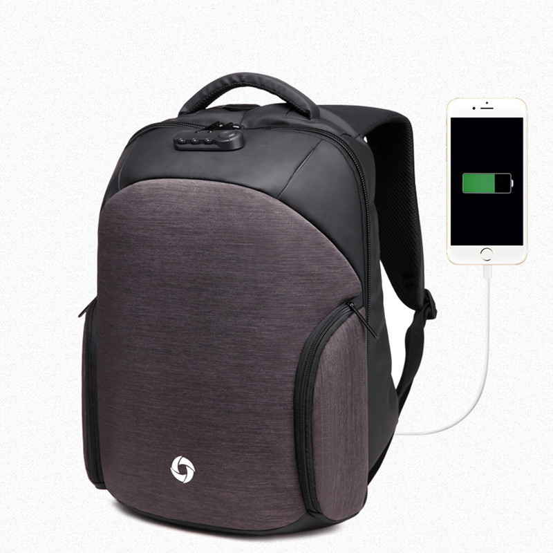 New Anti-theft Password Lock Waterproof Men Backpacks USB Charge 17Inch Laptop Backpack Business Casual School Bag Mochila sopamey usb charge men anti theft travel backpack 16 inch laptop backpacks for male waterproof school backpacks bags wholesale