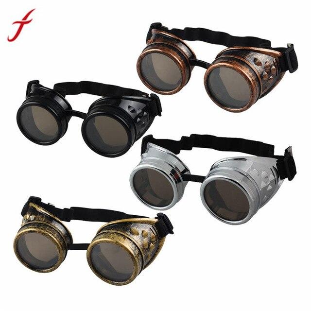 FEITONG Letnie Okulary Mężczyźni Steampunk Okulary Gogle Okulary Spawalnicze Punk Gothic Cosplay Unisex Vintage Victorian 4 Kolory