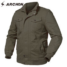 hot deal buy s.archon spring us air force tactical cargo jacket men military style cotton pilot jackets male army flight bomber jackets coats