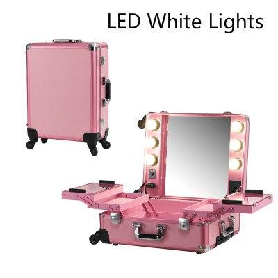 Pink Led White Light Makeup Case Lights Professional