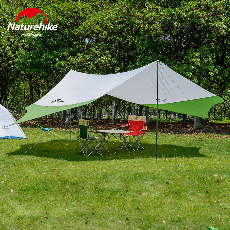 Naturehike Outdoor Awning Beach Large Camping Picnic Tents Sand Free UV Protection Sun Shelter Waterproof Ultralight Fast Build portable sand free mats for beach picnic camping
