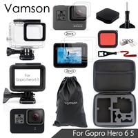 Vamson For Gopro Hero 6 5 Accessories Set Sreen Portector Lens Protector Waterproof Housing Case For