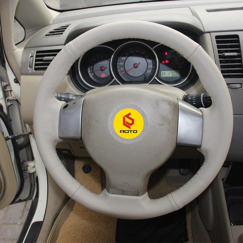 Tresse sur le Couvercle du Volant pour Vieux Nissan Tiida funda volante pour Versa Note 2004-2010 Sylphy 2006 -2011 Versa 2007-2011