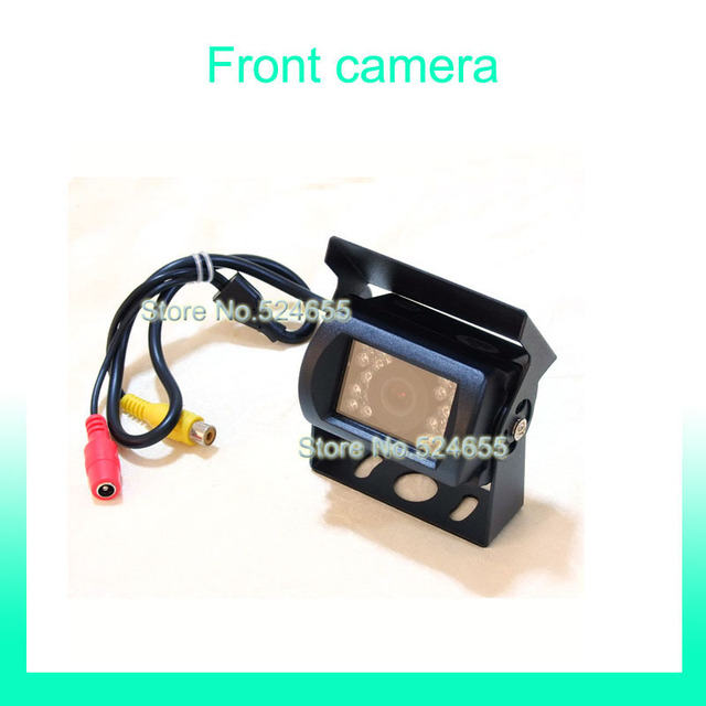 Front car camera Free shipping 12V~24V bus car camera truck Rear view back up hd car camera  parking camera mini